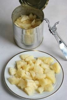 Pieced pine apples in light syrup