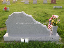 Mountain Shaped Good Quality Cheap Sesame White Granite Headstone