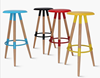 Round colorful simple coffee shop use fashionable Plastic high Bar Chair