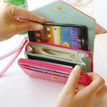 Promotion!Multifunction Women Wristlet <strong>Wallets</strong>, Coin Case Purse For Iphone,Galay.Case Iphone 4/5 <strong>Wallet</strong> Billete Monedero Mujer