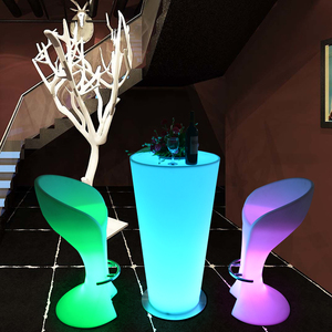 Most popular best selling bar table and chair, lighting furniture,LED bar counter