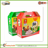 Custom Made Quality Corrugated Paper Egg Packaging Boxes with Handles