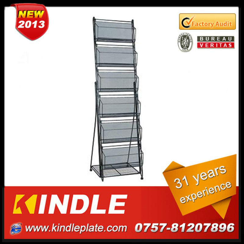 solid galvanized steel display shelving