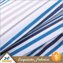 Bed sheet use Polyester blue and white printed fabric