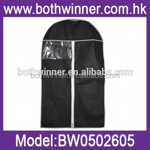 TR027 custom non woven garment cover bag suit protector coat cover