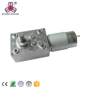 ETONM ET-WGM58B Worm geard gearbox 24v dc gear motor with double shaft 12Volt 35rpm