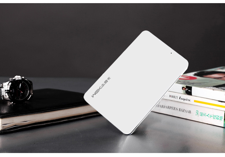 Fast charging 1020mAh wireless restaurant power bank with name card holder