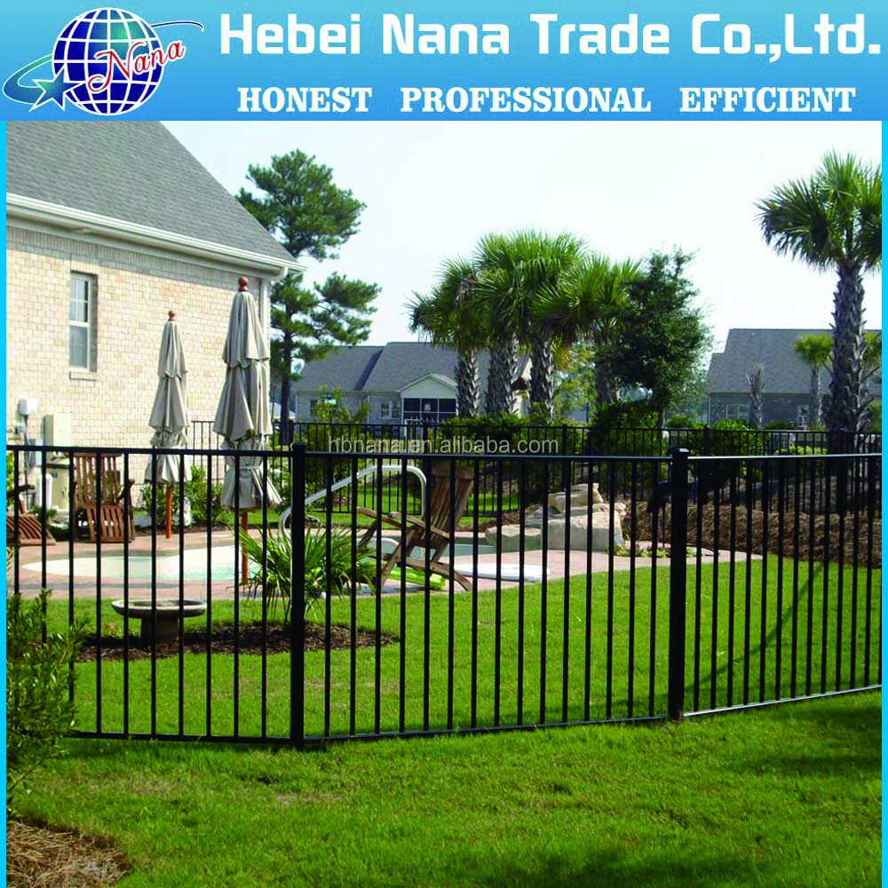 new type decorative spearhead wrought iron fence panels design