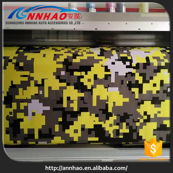 Auto Paint Protection Vinyl Car Wrap Attractive Suburbs Camo Color Auto Film