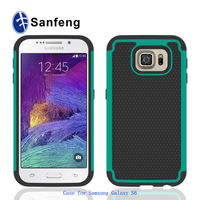 Wholesale price cool light weight hybird combo case for Samsung galaxy s6 football pattern tpu back cover cell phone case