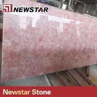 Newstar kitchen countertop polishing rose quartz slab