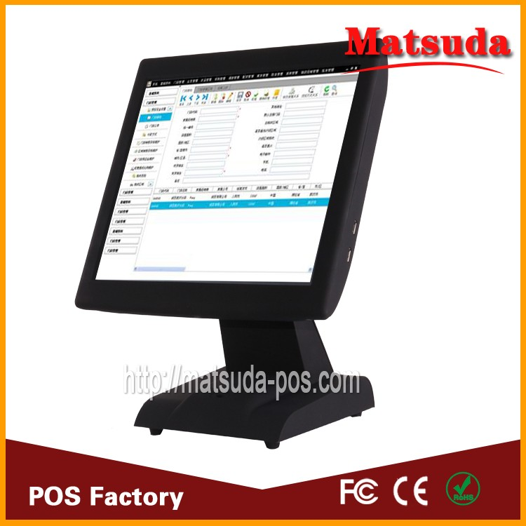 China factory windows OS touch screen restaurant point of sale system with pos software