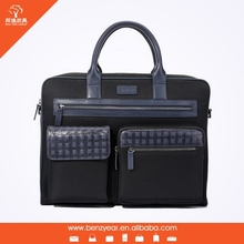 New Waterproof Nylon Men Style Leather Fashion College Bags 2012