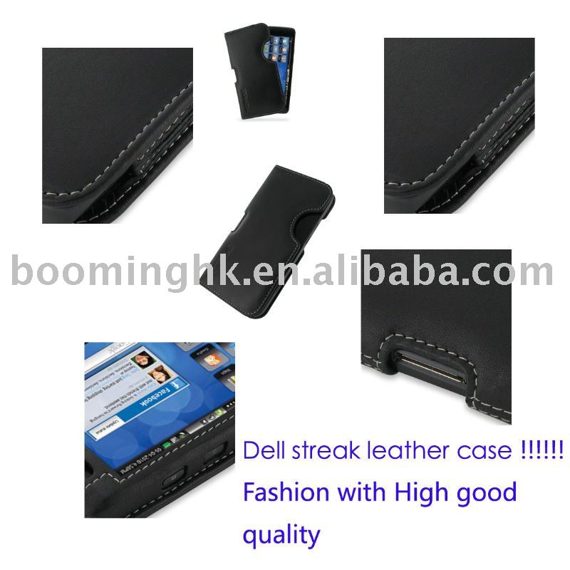 flip Genuine Leather Case for Dell Streak mini 5 New!!!