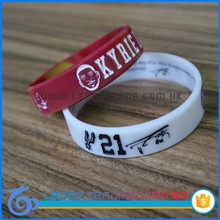 low price silicone golf bracelets , sport silicone wristbands with slogan