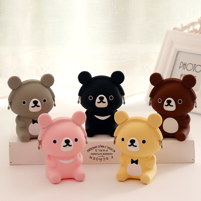cute animal design silicone coin purse