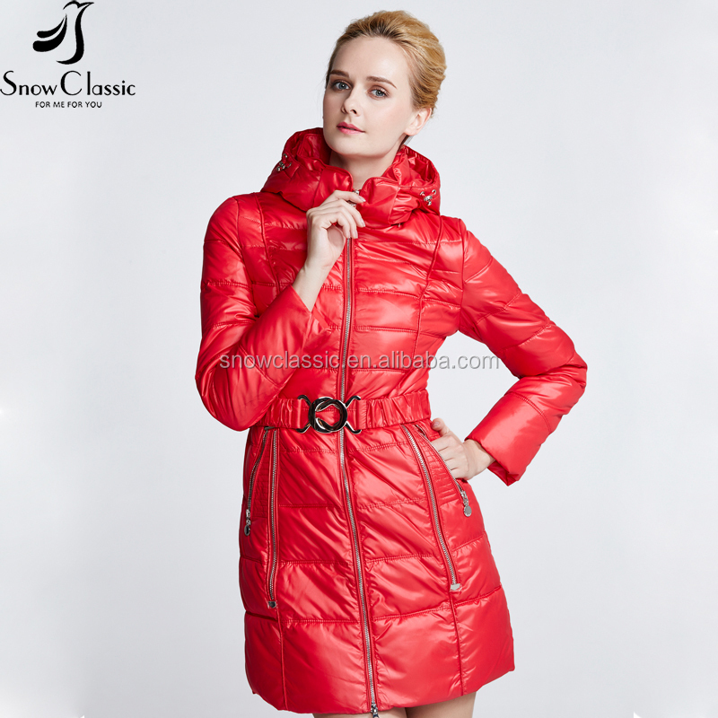 Competitive price at high quality super warm 100% polyester women cotton jacket for the winter