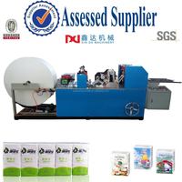 Automatic handkerchief paper machine, embossing folding hanky facial tissue equipment