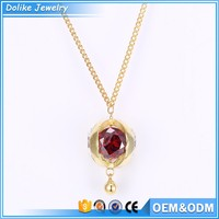 Gold plated jewelry wholesale ,long pendant necklaces for girls