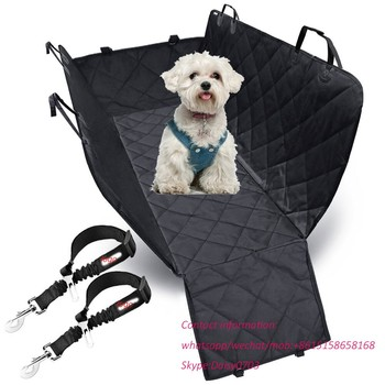 Washable quilted finished padded pet car back luxury dog cat seat covers