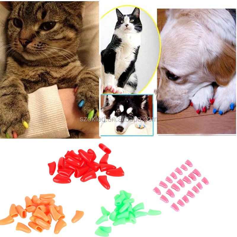 Fullset 20Pcs Colorful Soft Pet Dog Cat Nail Caps
