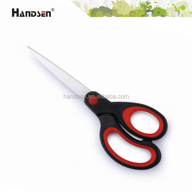 "6-3/4"" rubber handle sharp point scissors"