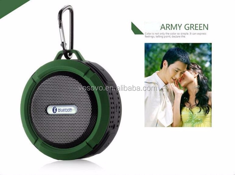 Wireless Bluetooth 3.0 Waterproof Speakers C6/Hands-free phones Waterproof Suction Cup (Army Green)