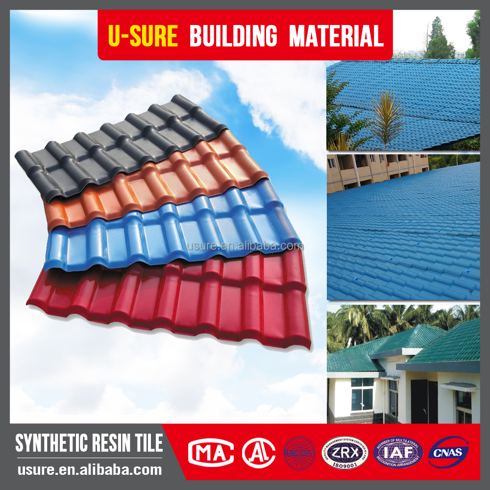 corrosion resistance recycled plastic material synthetic resin tile roofing