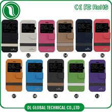 PU Leather high quality mobile phone use for iphone5 leather case with window