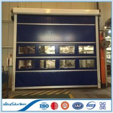 "Fast acting speed roll up carwash door 11' wide by 10""6' high Yellow Top,Clear Center,Yellow Bottom"