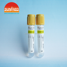 Yellow Vacuum Blood Collecting Tubes Gel&Clot Activator Tube Blood Collection Tube