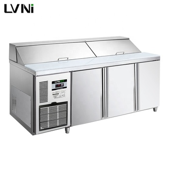 LVNI P series 1.8m 3 doors 9 one third gastronorm pan counter saladette salad bar