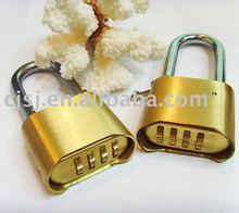 4 digits brass combination 50mm brass padlock