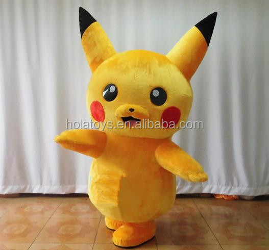 Yellow cartoon mascot costume/pikachu mascot costumes