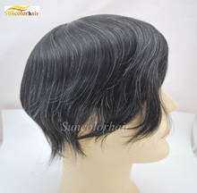 Cheap wholesale price men human hair wigs for male, hair piece for men