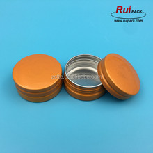 Yellow color empty flat cosmetic cream aluminum can