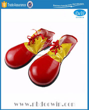 Plastic red yellow color clown shoes for Carnival/Party