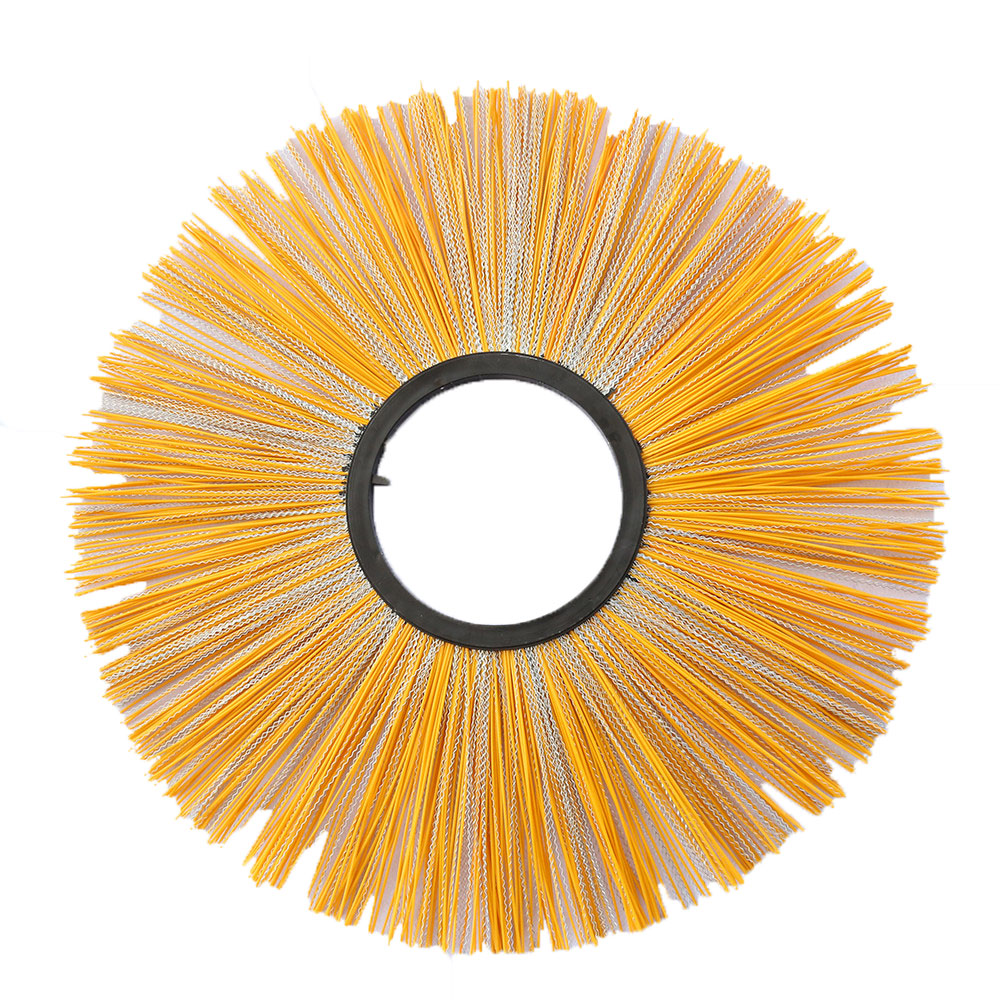 250/255/260/275/300*800mm PP & Steel Wire Wafer Segment Brush For Road Sweep Cleaning Equipment