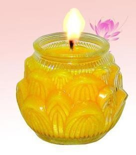 Haonai wholesale glass candle jar / emboss glass canister