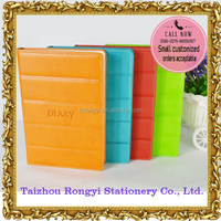 2016 diary with colorful edge painting and logo embossed