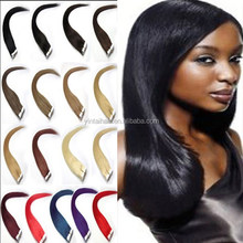 Hot New Products for 2015 5A Black Silk Straight Brazilian Human Hair Remy hair extension tape Alibaba Express