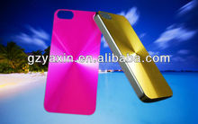 hot sale heart gold case for iphone 5s,alum golden case for iphone mobile 5s back cover