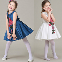 W92333A 2016 new model girl dress kids dress frock design for baby girl little girls party dresses