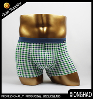 Colorful short good men wear underwear with custom logo ,lable and pattern