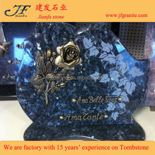 Best Selling Small Tombstone With Rose Carving Design