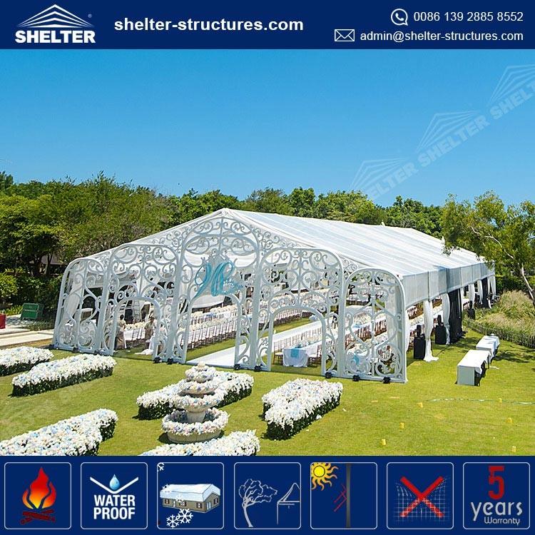 Beautiful Stage Canopy With Many Decoration 10x30m