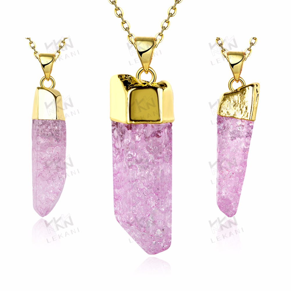 Nice pink stone necklace, Hot sale natural make stone necklace with stone