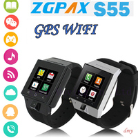 Bulk wholesale high quality blutooth 3g android 4.4.2 smart watch phone with wifi/gps/camera