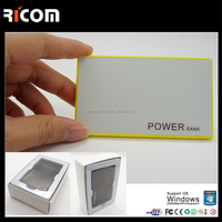 China CE ROHS Credit card power bank purse,smartphone battery charger --PB318B Shenzhen Ricom