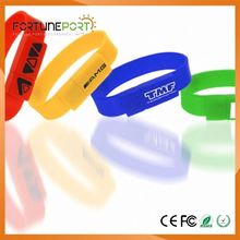 Cheapest Bracelet USB Flash Drive Silicone Wearable Wristband Pen Drive 1gb to 64gb OEM USB Memory Stick for Spain Promotion